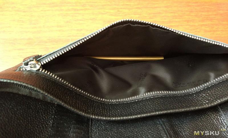 Черная кожаная сумка Bullcaptain