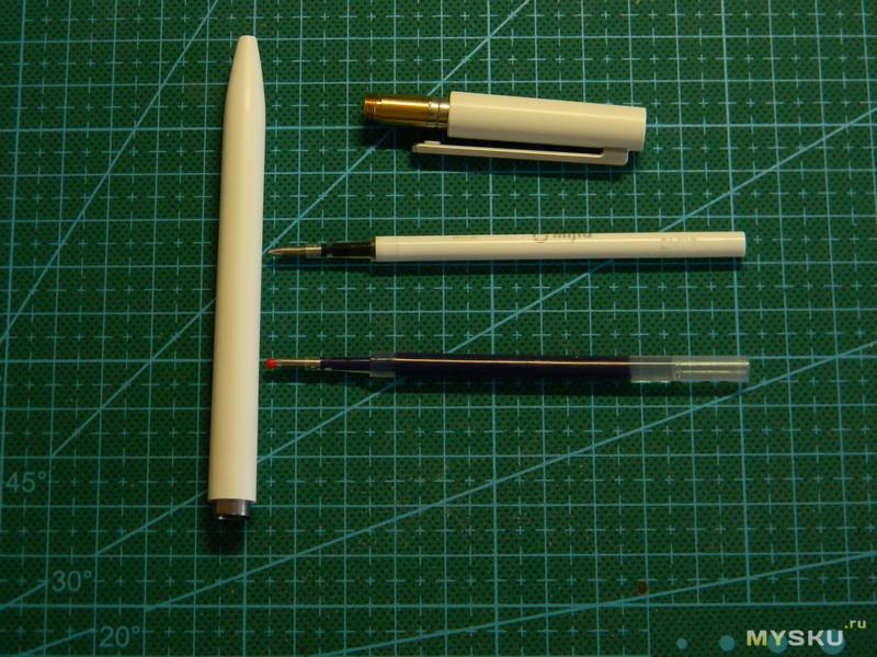 Синий стержень  для ручки Xiaomi Pen(1версия,белый пластик,поворотный механизм)