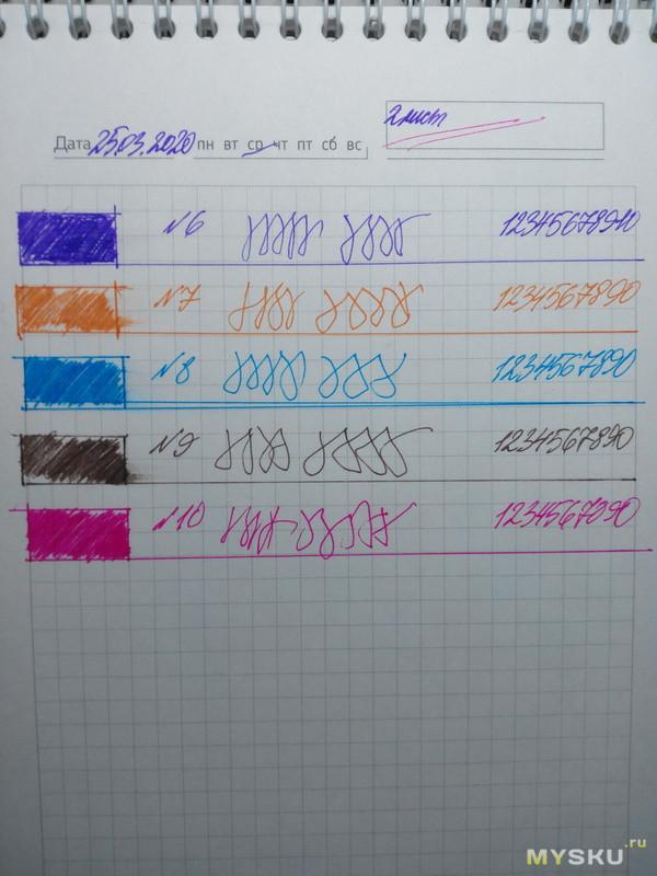 Гелевые стержни KАСО. 5 пачек=14 цветов.