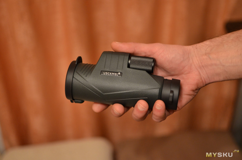 Обзор монокуляра Uscamel UW056B 10X42 (BAK7) с комплектным креплением для телефона, проверка кратности.