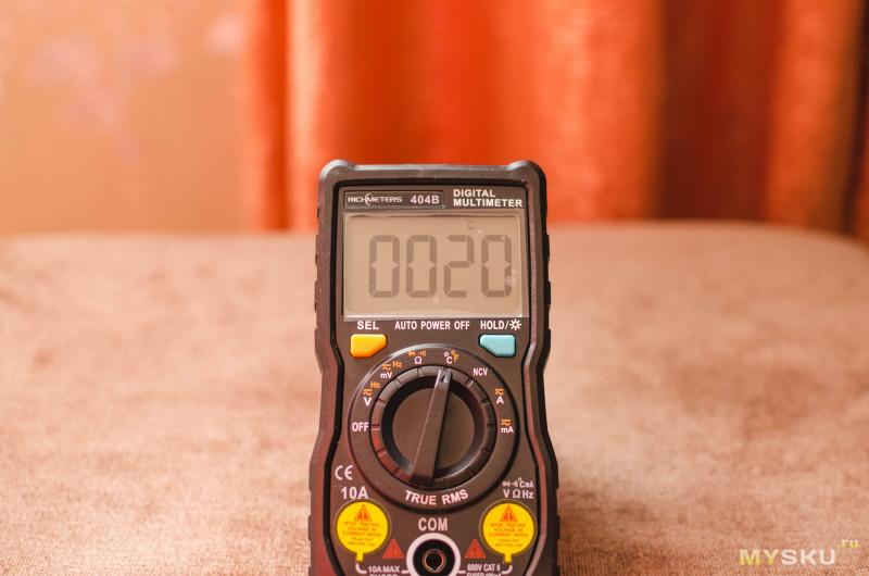 Краткий обзор мультиметра Richmeters RM404B с разборкой.