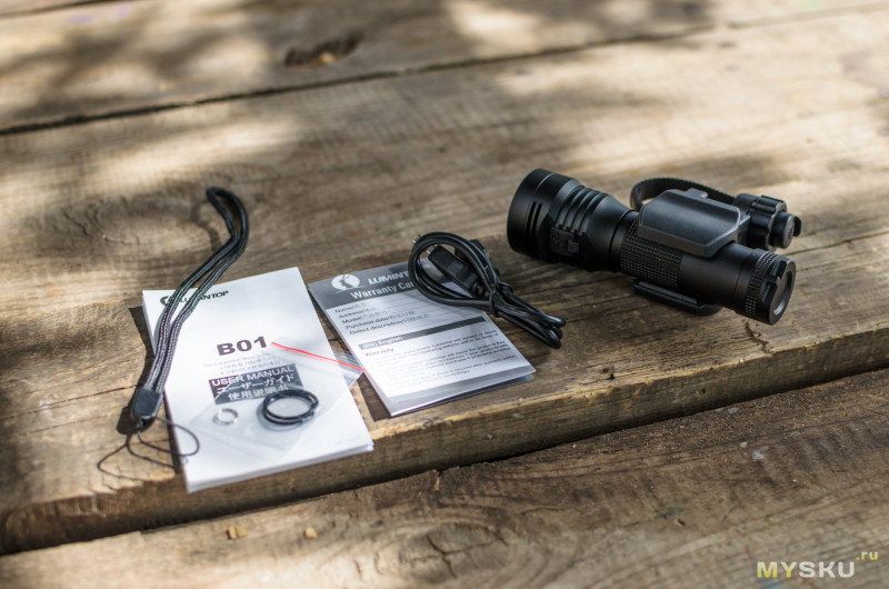 Обзор велофары Lumintop B01 - с креплением в комплекте и встроенным USB. (850лм, XPL HD, 1x21700/18650)