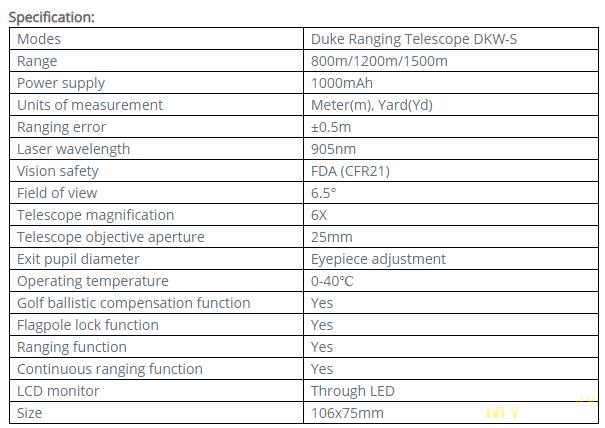 Предзаказ на охотничий дальномер DUKA DKW-S (XIAOMI YOUPIN) 800m по цене .99