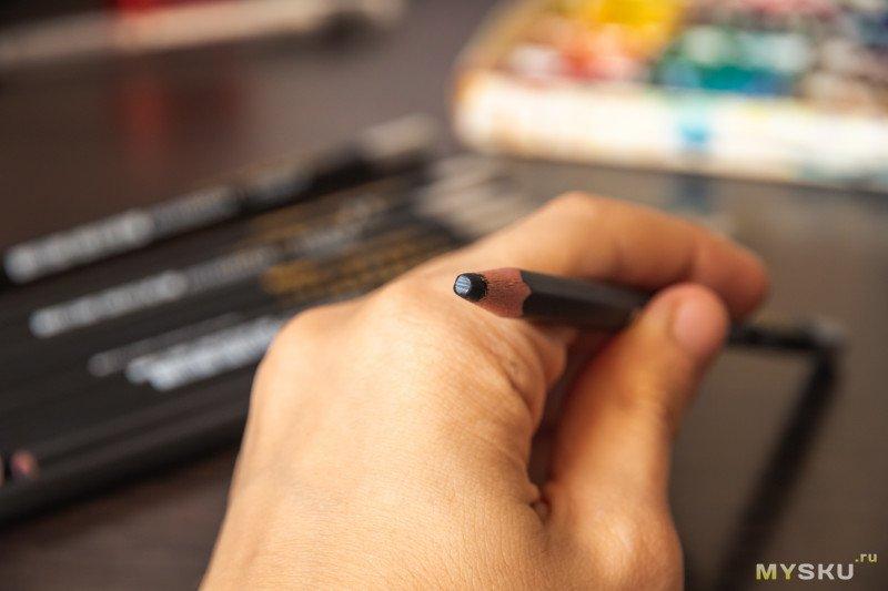 Обзор угольных карандашей Marie's (Charcoal Pencil), Soft, 12 штук. Примеры нарисованных картинок.