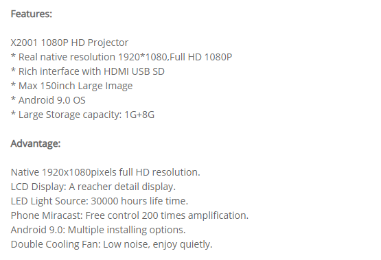 Проектор CRE X2001 (Android версия, 1+8GB) нативные 1080р, 3200 люмен за 0 + free shipping.