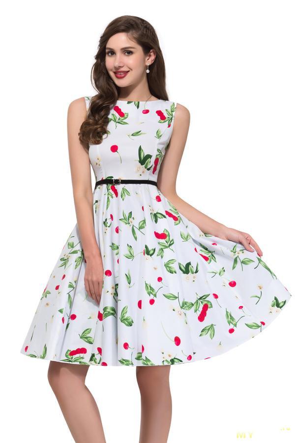 Летнее платье в разных расцветках - цена с купоном 7,5 usd
