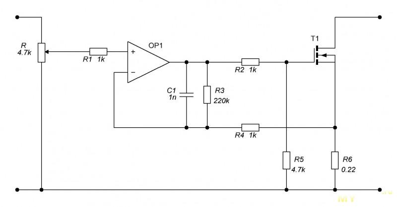 Набор для сборки простой электронной нагрузки 150 Ватт