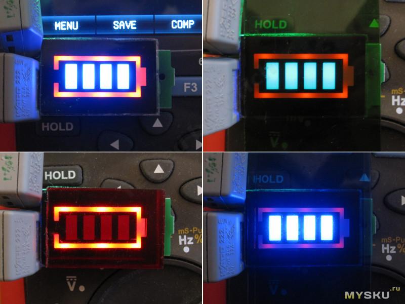 Индикатор напряжения для сборок литевых батарей 1-7S