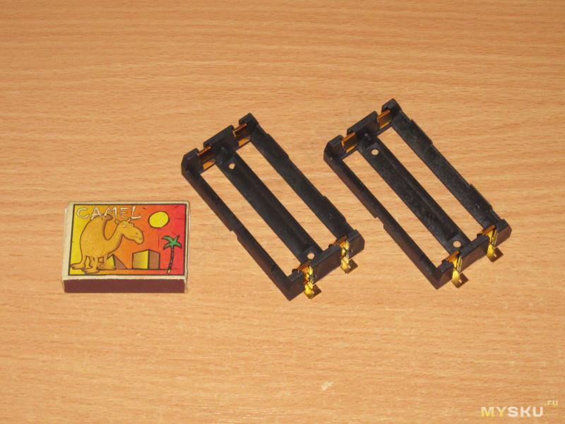 Двойные держатели для аккумуляторов 17650/18650