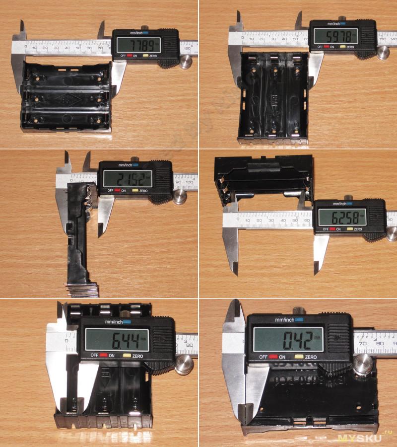 Холдеры 3х18650, микрообзор