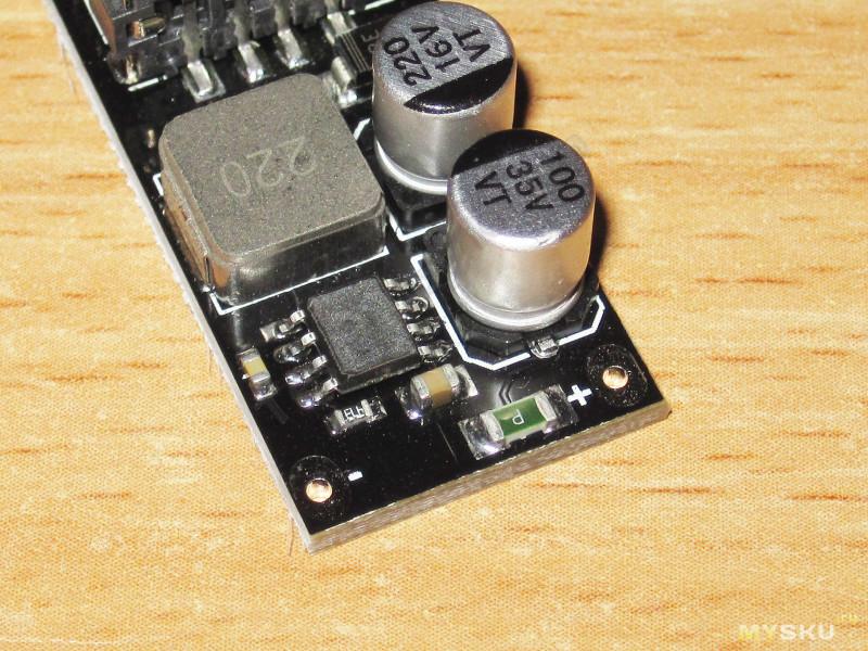 Компактный преобразователь напряжения с функцией Quick Charge