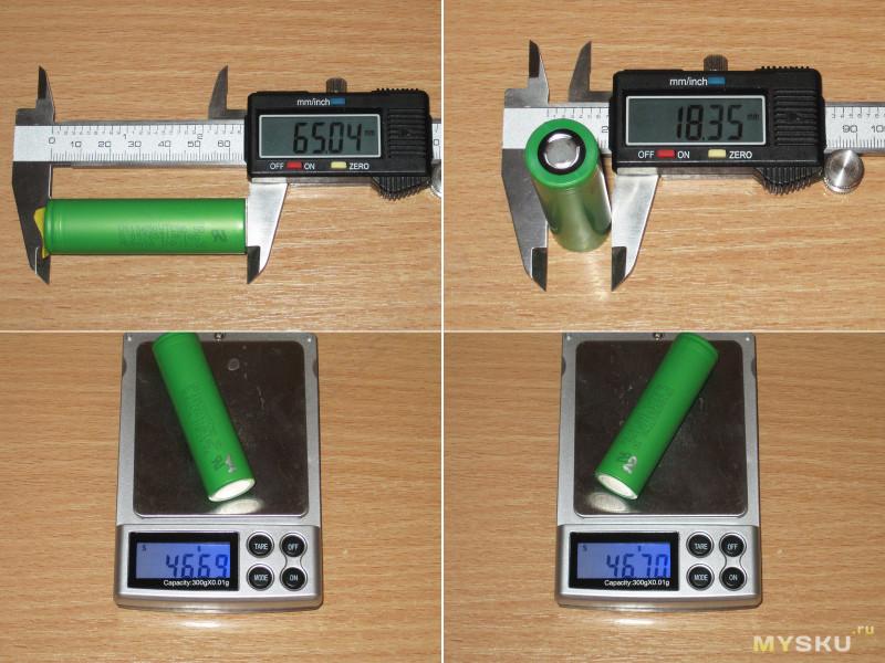 Емкие высокотоковые аккумуляторы Murata US18650VTC5D