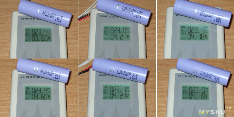 Аккумуляторы Samsung ICR18650-22P
