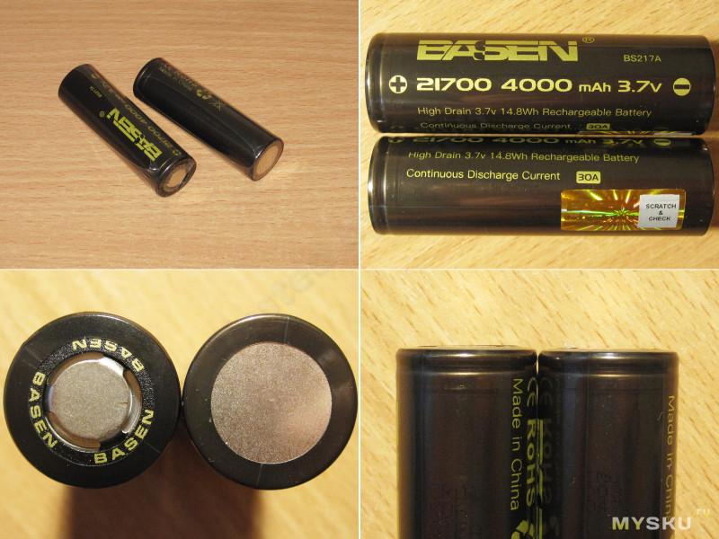 Аккумулятор Basen BS217A, 4000мАч в размере 21700