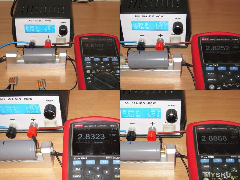 Аккумуляторы VariCore 32700 LiFePo4 с заявленной емкостью 6500мАч