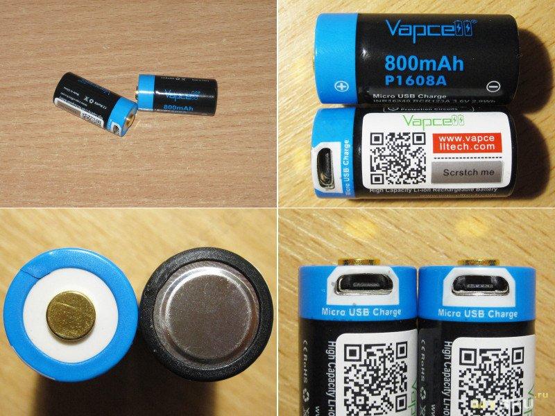 Аккумуляторы Vapcell, часть четвертая, типоразмеры 16340, 14500 и 18650 с защитой и зарядным