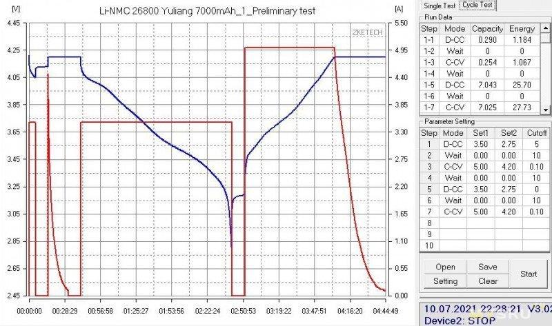 Аккумуляторы Li-NMC 26800 Yuliang 3.7 V 7000mAh