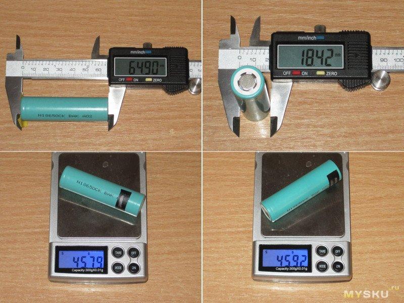 Аккумуляторы BAK N18650CK 3000mAh - 6.1A
