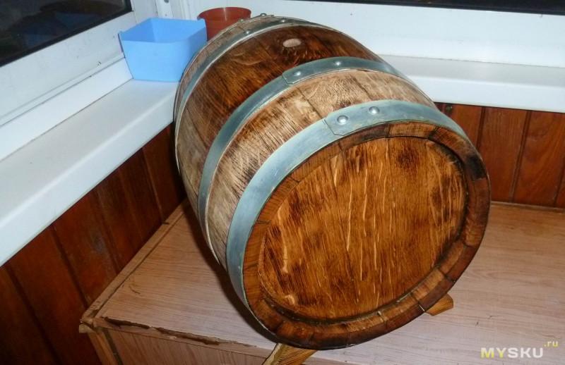 """Дубовая бочка на 15 литров от """"Кубанского бондаря"""". Подготовка к использованию и заливка виноградным дистиллятом"""