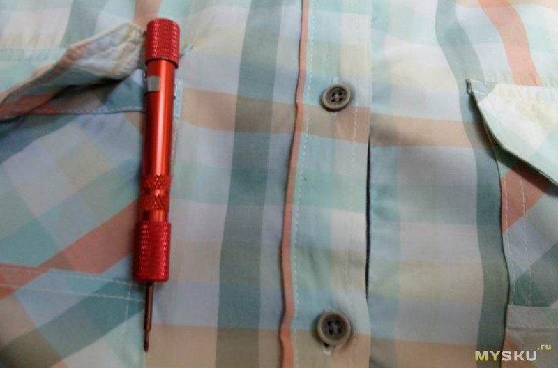 Отвертка с органайзером для бит в рукоятке