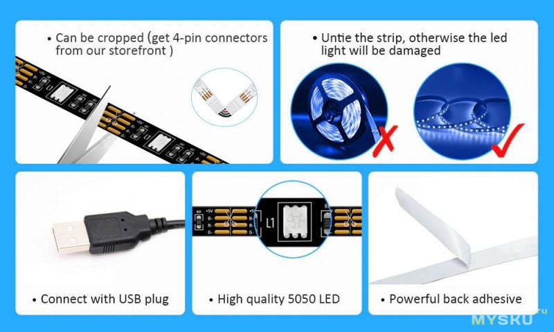 Фоновая светодиодная подсветка для любого телевизора
