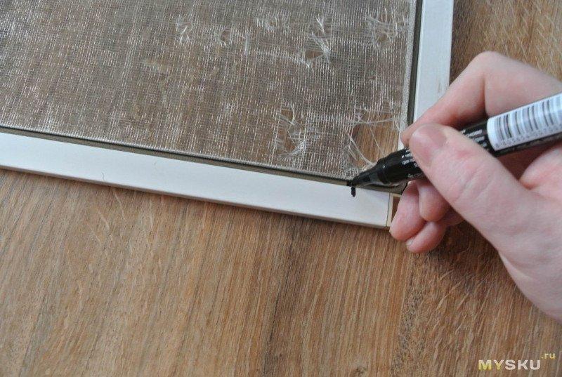 Антимоскитная сетка. Ремонтируем пластиковое окно.