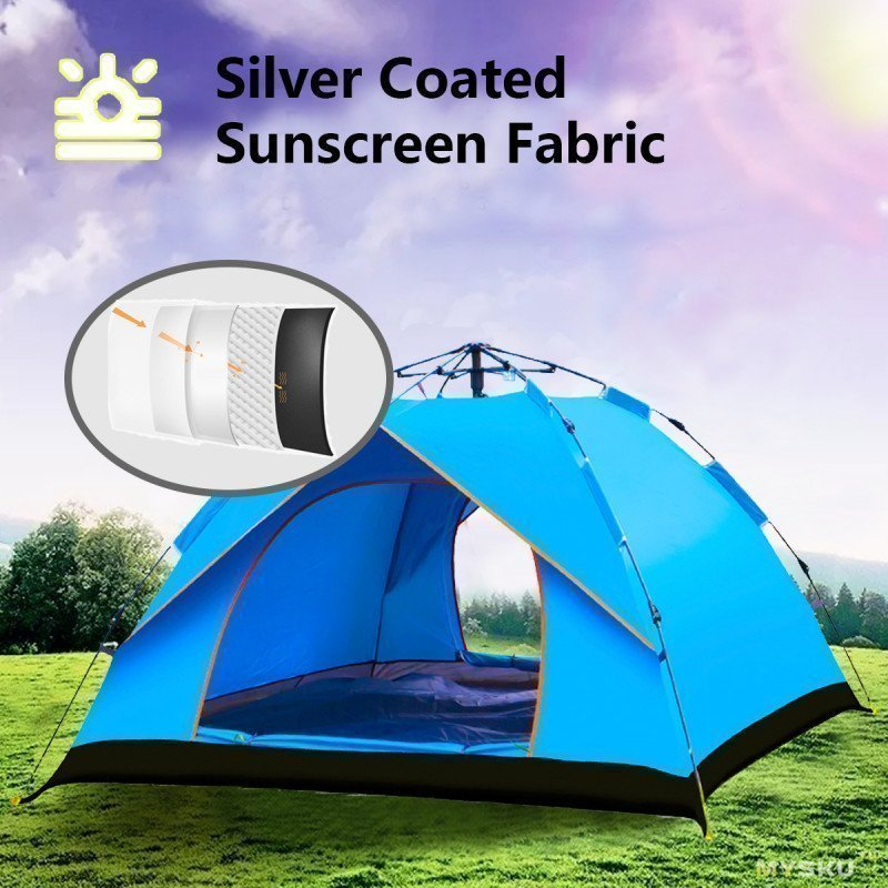 IPRee® водонепроницаемая палатка для 3 человек с автоматическим раскладным механизмом за 47.99$