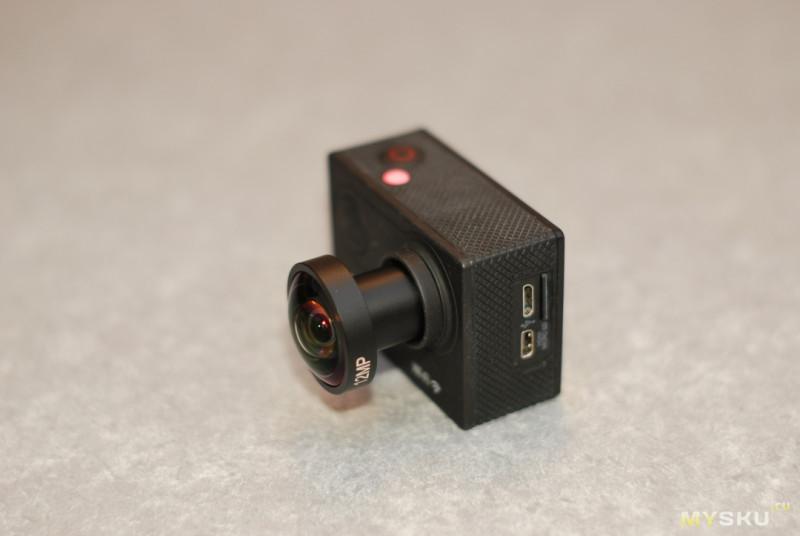 4K широкоугольный объектив для экшн и камер видеонаблюдения