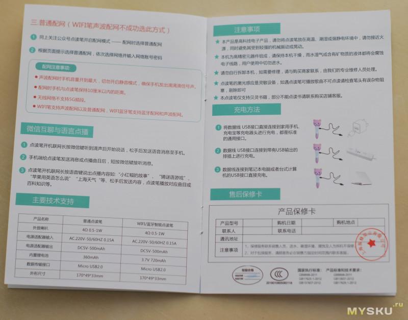 Говорящая ручка для обучения детей Китайскому и Английскому языкам Beiling B01