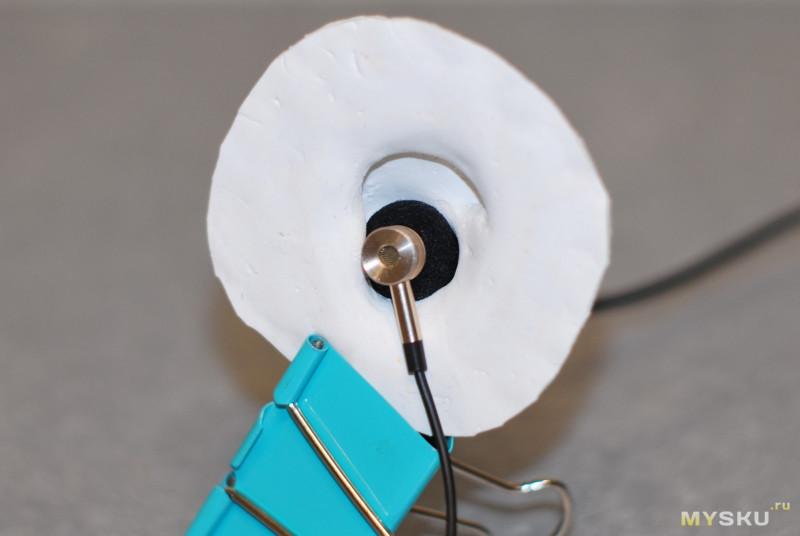 Резиновое ухо для снятия АЧХ у наушников