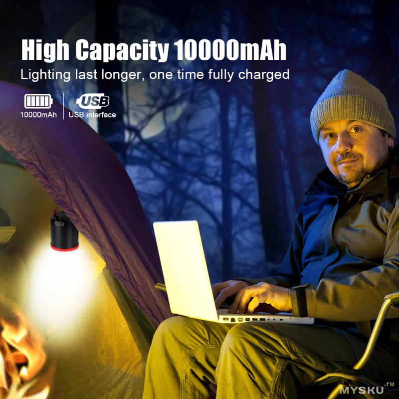 Кемпинговый фонарь Brilex с функцией повербанк за $8.99