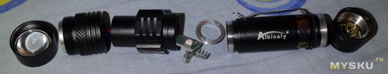 """Фонарики с зумом, боковой кнопкой и встроенной зарядкой на """"XM-L T6""""/""""XP-L V6"""" и 18650"""