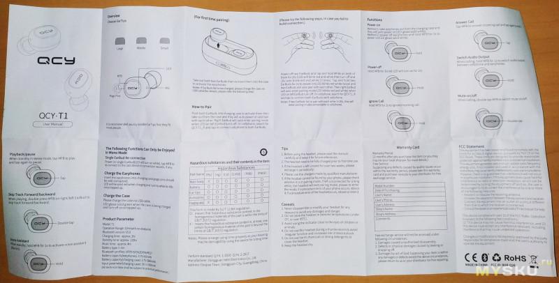 Bluetooth 5.0 TWS наушники QCY T1