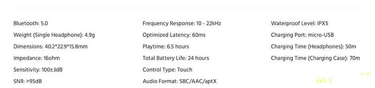 Bluetooth 5.0 aptX TWS наушники Funcl AI