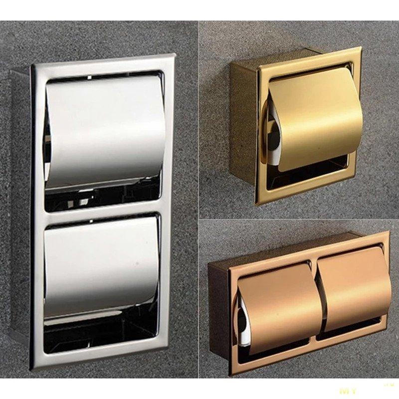 15 сантиметров - это очень мало? Экономим место в советском санузле с помощью встраемого в стену держателя туалетной бумаги.