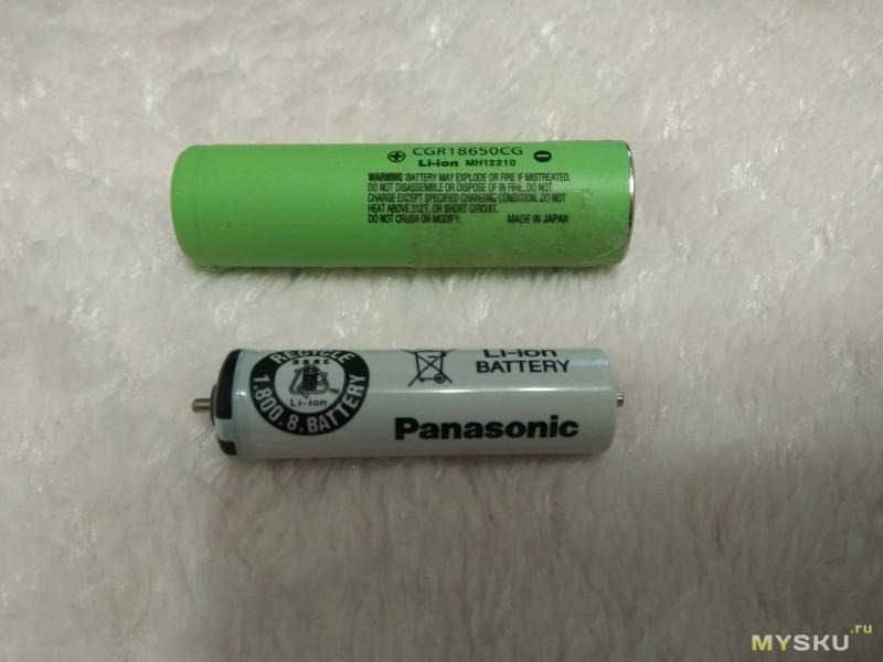 Замена аккумулятора в электробритве Panasonic