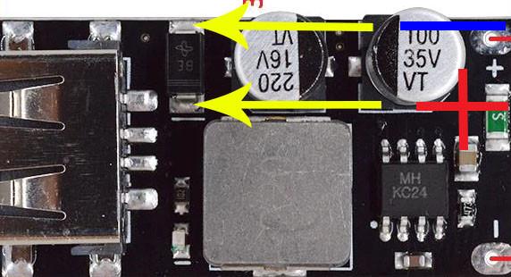 MH-KC24 USB модуль зарядки с поддержкой технологии Qualcomm QC3.0 QC2.0 (Step Down)
