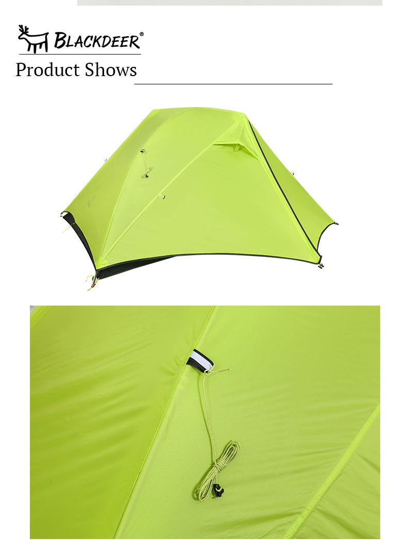 Ультралегкая двухслойная двухместная палатка 1.4кг Blackdeer ultralight tent