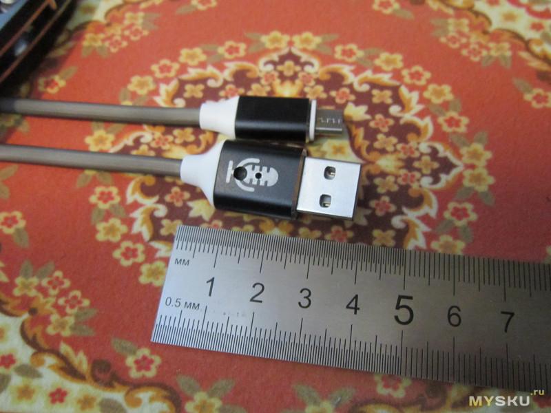 Цветомузыкальный USB кабель (microUSB/Type C/Lightning)