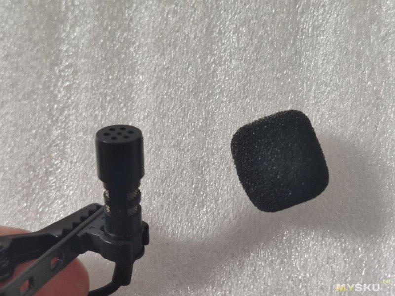 "Микрофон ""петличка"" с кабелем в 2 метра и под Type-C"