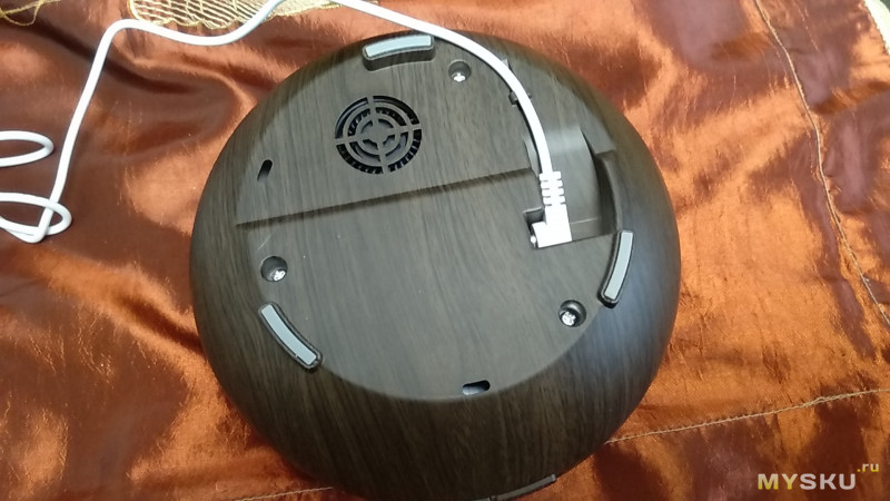 Увлажнитель + ароматизатор воздуха объемом 550 мл, АС 100-240V/ DC 24V, 7 цветов подсветки.