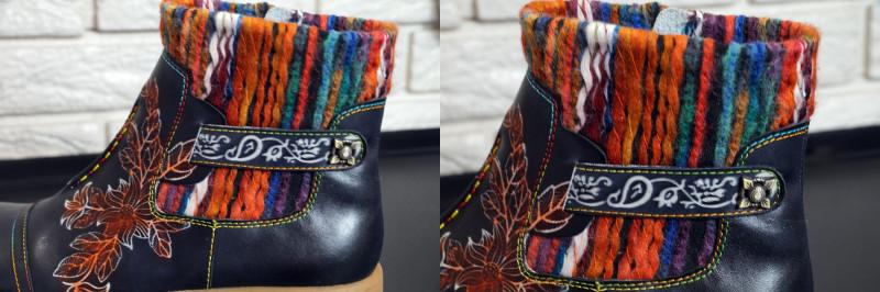 Обзор богемных женских  ботинок из натуральной кожи