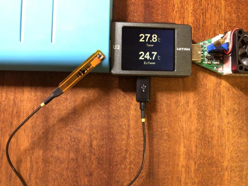 Cамодельный температурный датчик к USB тестеру WITRN U2