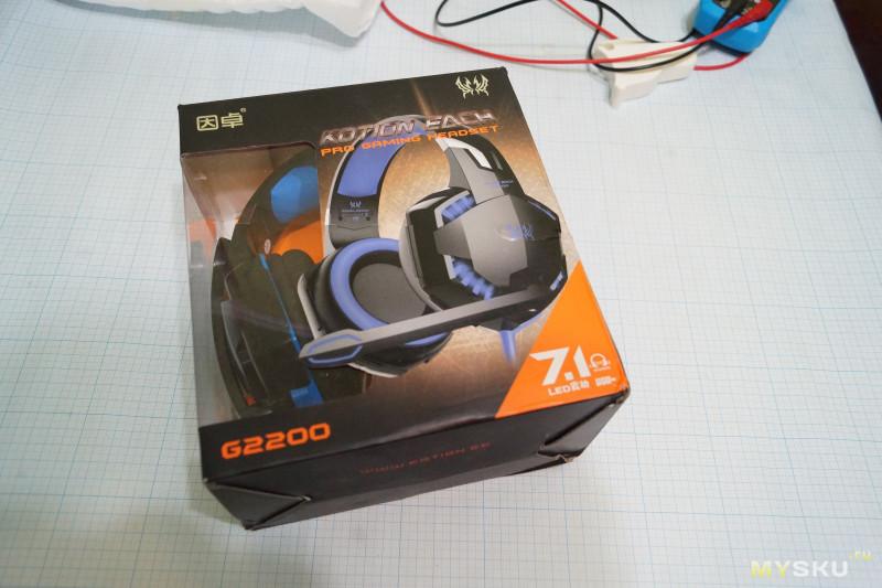 Игровые наушники KOTION EACH G2200 виброоткликом.