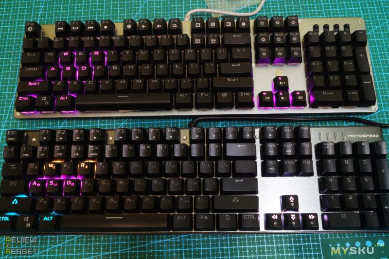 HP® GK100S - полноразмерная механическая клавиатура.