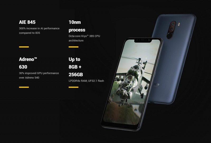 Xiaomi POCOPHONE F1 Global 6/128GB за $229.55