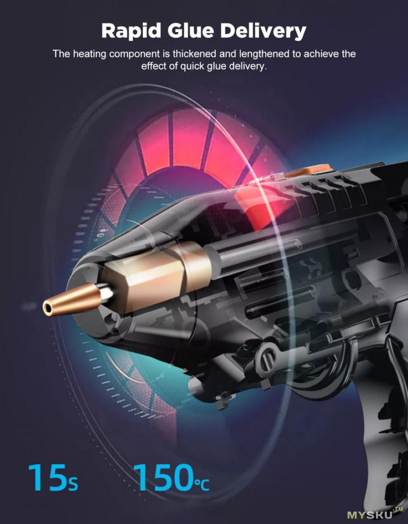 Аккумуляторный клеевой пистолет Minleaf ML-HG2 $12.21