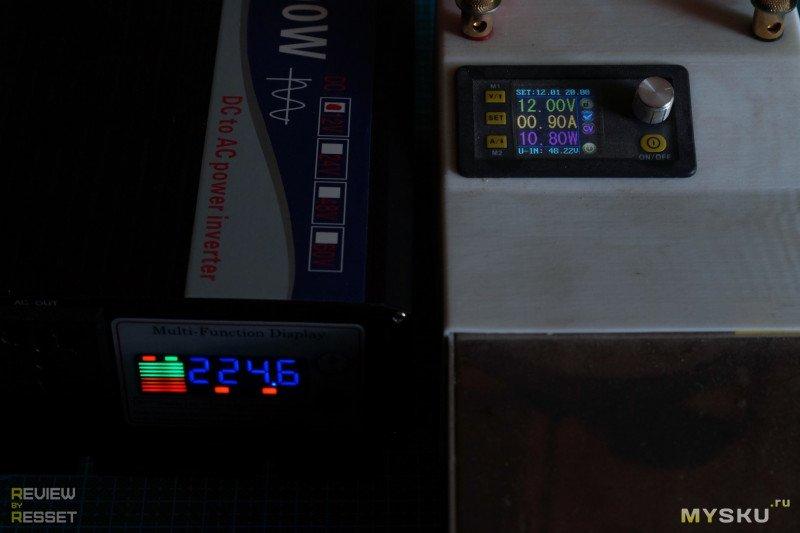 Инвертор 12→220В CJ-3000Q на 3000Вт в пике