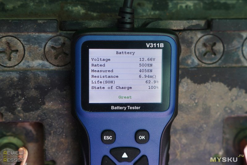 Тестер аккумуляторов V311B