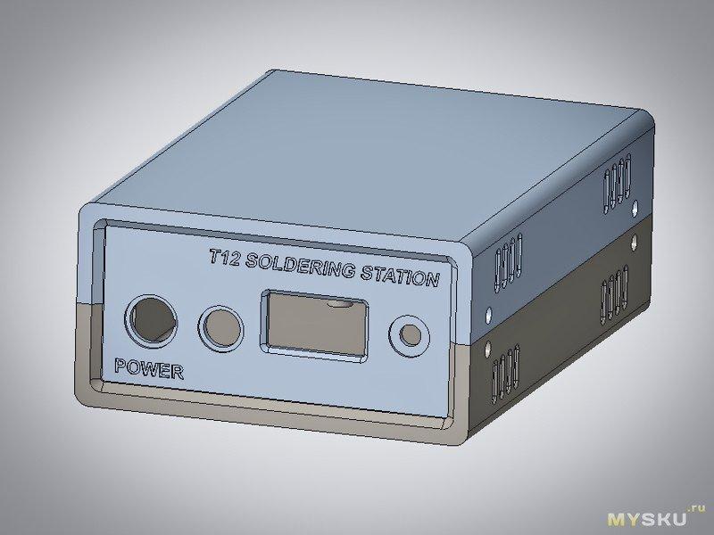 Печатный корпус для клона Hakko T12